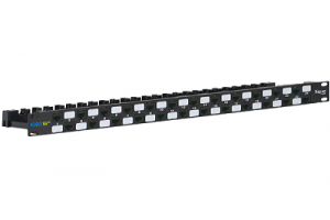 ICC CAT6A UTP Patch Panel with 24 Ports and 1 RMS