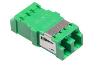 LC/APC to LC/APC Duplex Singlemode Fiber Adapter - Ceramic