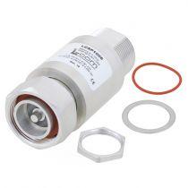 L-com 7/16 Female/Male Bulkhead Surge Protector 698MHz - 2.7GHz DC Block 500W IP67 Surge Filter Low PIM -163 dBc