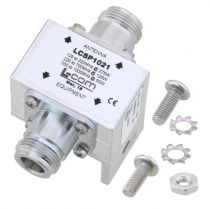 L-com Type N F/F In/Out RF Surge Protector 125MHz - 1GHz DC Block 375W 20kA Blocking Cap and Gas Tube