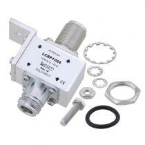 L-com Type N F/F Bulkhead RF Surge Protector 10MHz - 1GHz DC Block 1.5kW 20kA Blocking Cap and Gas Tube