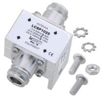 L-com Type N F/F In/Out RF Surge Protector 1.5MHz - 700MHz DC Block 2kW 50kA Blocking Cap and Gas Tube