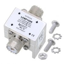 L-com Type N F/F In/Out RF Surge Protector 1.5MHz - 700MHz DC Block 500W 50kA Blocking Cap and Gas Tube