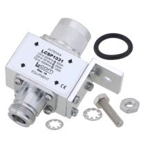 L-com Type N M/F In/Out RF Surge Protector 125MHz - 1GHz DC Block 500W 50kA Blocking Cap and Gas Tube
