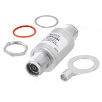 L-com 4.3-10 Female to Female RF Surge Protector 698MHz - 2.7GHz DC Block 500W IP67 40kA Surge Filter Low PIM -173 dBc