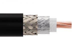 Low Loss Flexible LMR-600-UF Outdoor Rated Coax Cable Double Shielded with Black TPE Jacket Ultra Flex - Per FT