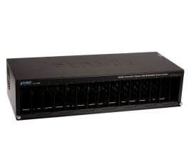 "Planet 15-slot 19"" Media Converter Chassis with Redundant Power Option, DC"