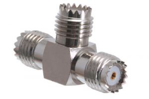 Mini UHF Female T Adapter