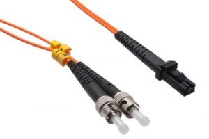 MTRJ/ST 62-5/125 Multimode Duplex Fiber Patch Cable - OM1 - 3 Meter