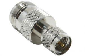 N Female to Mini UHF Male Adapter