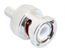Pasternack PE4016 - BNC Male Crimp Connector - RG58, RG303, RG141, PE-P195, PE-C195, LMR-195 PVC