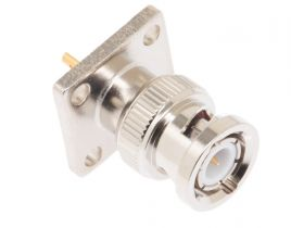Pasternack PE4082 - BNC Male Solder Connector 4 Hole Flange - .531 IN Hole