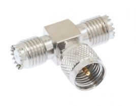 Pasternack PE9065 - Mini-UHF Tee Adapter Female-Male-Female