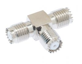 Pasternack PE9066 - Mini-UHF Female Tee Body Adapter