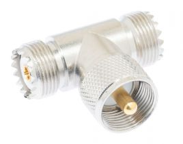 Pasternack PE9095 - UHF Tee Adapter Female-Male-Female