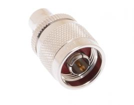 Pasternack PE9369 - 75 Ohm N Male to 75 Ohm BNC Female Adapter