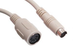 5 Pin DIN Female to Mini 6 Pin DIN Male Adapter Cable - 6 Inch