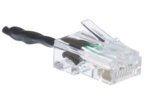 RJ45 Male Loopback Adapter - Pinned 1-3, 2-6