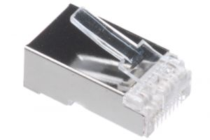 RJ45 Cat5e Shielded Connector - 8P8C - Stranded Cable - 10 Pack