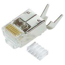L-com Cat5e 8x8 Shielded Plug with Strain Relief - Pkg/50