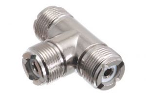 UHF Female T Adapter