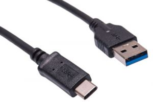 USB 3.0 Type C Male to USB 3.0 Type A Male Cable - 3 Foot