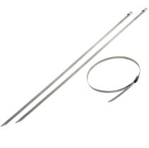 """Stainless Steel Cable Ties - 10 PK - 0.31"""" Width - 33 IN"""