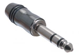 1/4 IN Deluxe Stereo Male Solder Connector - Metal