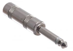 Reinforced 1/4 IN Mono Male Solder Connector - Metal