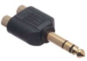 1/4 IN Stereo Male to Dual RCA Female Adapter