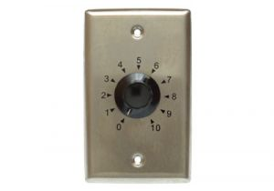 10 Watt 70/25 Volt Volume Control with Metal Plate