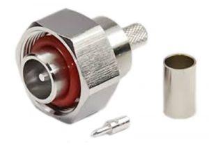 4.1/9.5 Mini-DIN Male Crimp Connector - RG58 & LMR-195