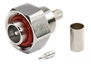 4.1/9.5 Mini-DIN Male Crimp Connector - RG142, RG223, & RG400