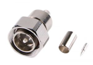 4.3/10 Mini-DIN Male Crimp Connector - RG58 & LMR-195