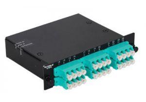 LC Multimode Duplex MTP/MPO Fiber Optic Cassette - 10GB - 12 Port