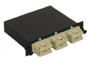 SC Multimode Duplex MTP/MPO Fiber Optic Cassette - 62.5/125 - 6 Port