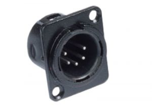 XLR 5 Pin Male Chassis Mount Connector - Plastic