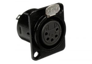 XLR 5 Pin Female Chassis Mount Connector - Plastic