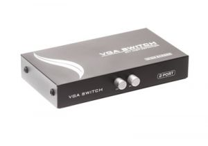 2-Way Push Button VGA (HD15) Switch Box (2in/1out)