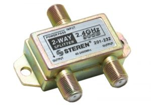 2-Way Coax Splitter - 40 to 2400 MHz - One Port Power Passive