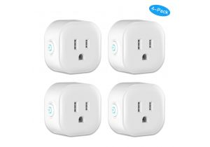WiFi Smart Outlets - Compatible with Alexa and Google Home - 4 Pack