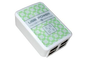 4 Port - USB Wall Charger - 4A