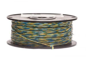 24 AWG Cross Connect Wire - 1 Pair - Blue/Yellow - 1000 FT