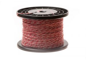24 AWG Cross Connect Wire - 1 Pair - Red/White - 1000 FT