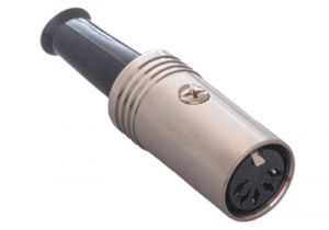 3 Pin DIN Female Solder Connector - Metal