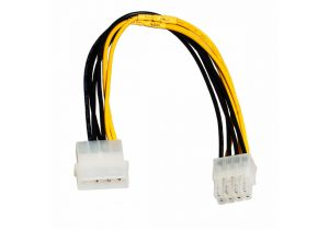 P4 Pentium Four Adapter Cable Xeon 8-pin to ATX 4-pin 9.5 inches