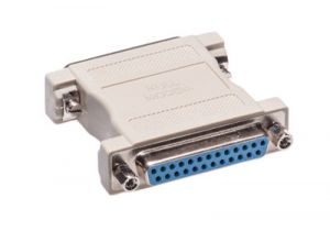 DB25 Male to DB25 Female Null Modem Adapter
