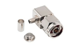 N Right Angle Male Crimp Connector - LMR-240