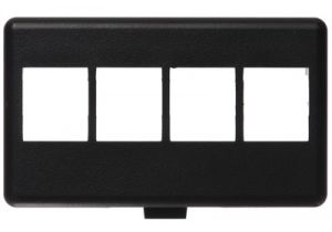 NetKey HD Keystone Modular Furniture Faceplates - 4 Port