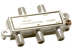 4-Way Coax Splitter- 5 to 1000 MHz